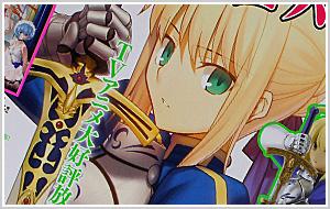 ヤングエース11月号 付録 Fate/Zero セイバー