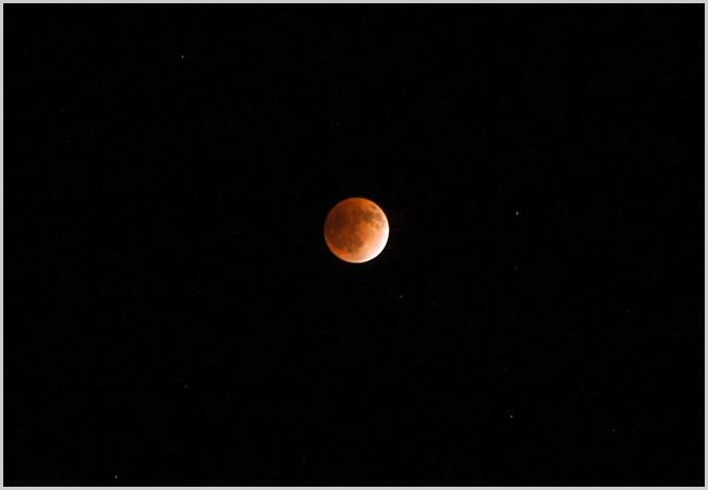皆既月食を撮影してみたよー!